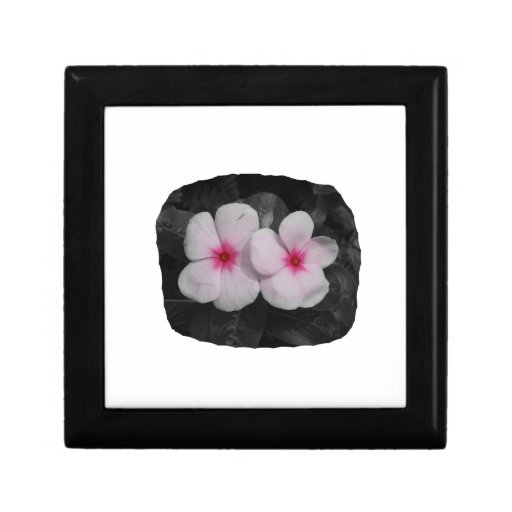 Pinwheel pink circle  flower cutout trinket boxes