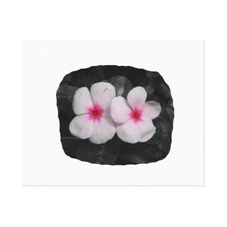 Pinwheel pink circle  flower cutout stretched canvas prints