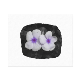 Pinwheel purple circle  flower cutout stretched canvas print