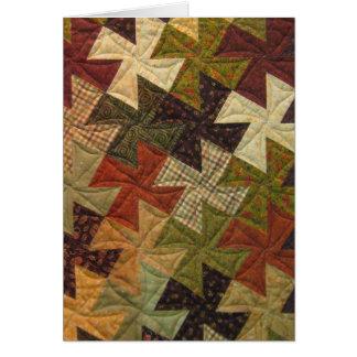 Pinwheel Quilt Blank Card