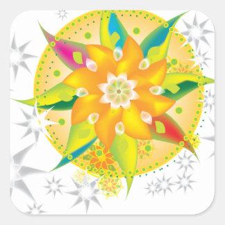 Pinwheel Square Sticker