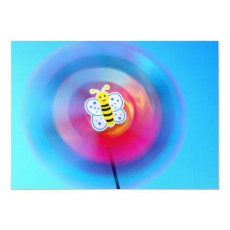 Pinwheel toy invitation