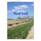 Pinzgauers 8360 Good Luck- change for any occasion Card