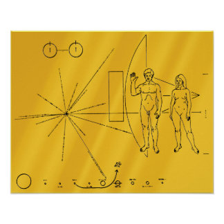 Pioneer 10 Gold Plaque Poster