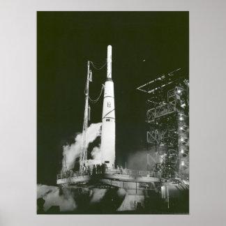 Pioneer 1 on Launch Pad Print