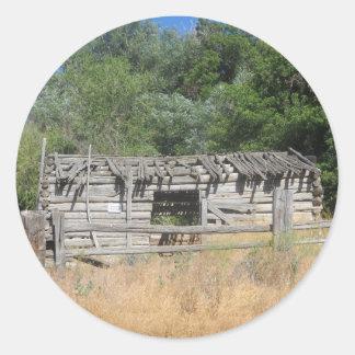 Pioneer Cabin Round Sticker