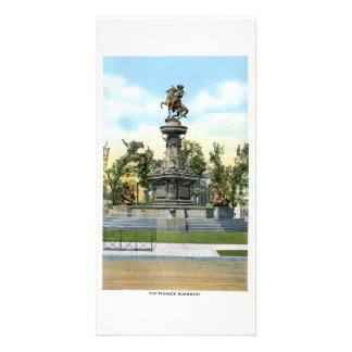 Pioneer Monument, Denver, Colorado Customised Photo Card