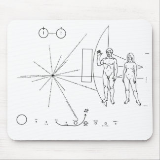 Pioneer Plaque Mouse Mat
