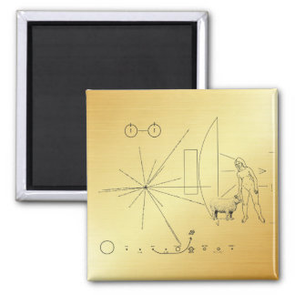 """Pioneer plaque """"Woman petting a sheep !"""" Magnet"""