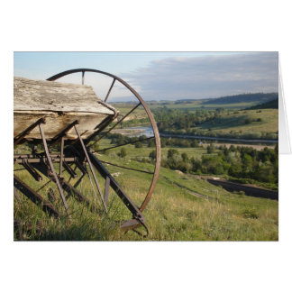 Pioneer Vision- Wyoming wagon wheel and scenery Card