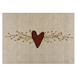 Pip Berry Heart Glass Cutting Board