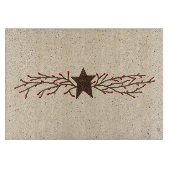Pip Berry Star Glass Cutting Board