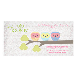 Pip Pip Hooray Backing Card for Hand Made Product Personalized Photo Card