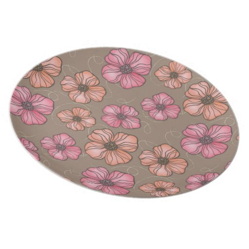 Pip Pip Hooray Paint + Ink Flower Pattern Party Plate