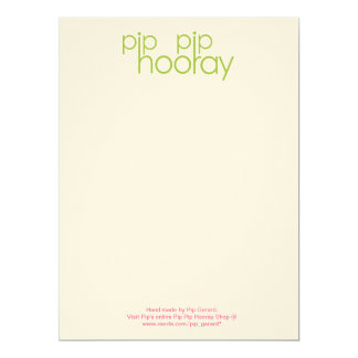 Pip Pip Hooray Product Backing Card