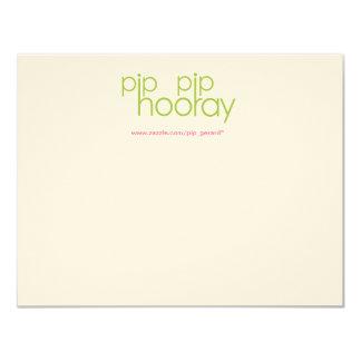 Pip Pip Hooray Product Backing Card 11 Cm X 14 Cm Invitation Card