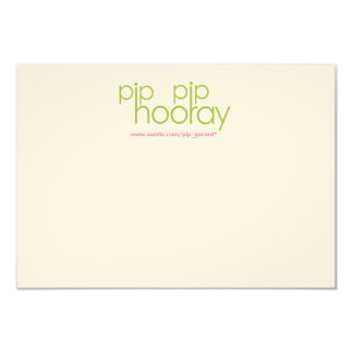 "Pip Pip Hooray Product Backing Card 3.5"" X 5"" Invitation Card"