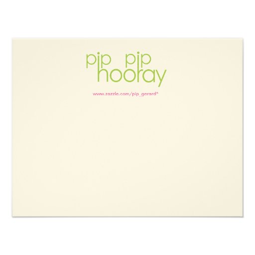 Pip Pip Hooray Product Backing Card Announcement