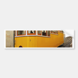 Pipe Funicular railway, Lisbon, Portugal Bumper Sticker