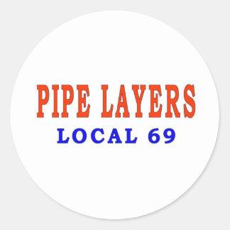 PIPE LAYERS CLASSIC ROUND STICKER