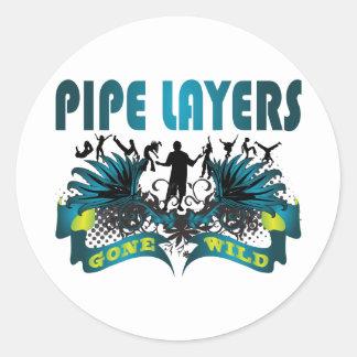 Pipe Layers Gone Wild Round Sticker