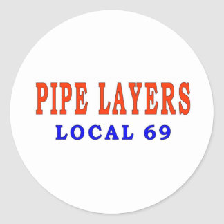 PIPE LAYERS ROUND STICKER