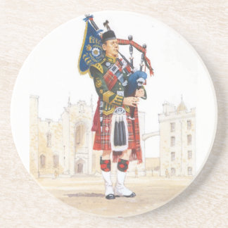 Pipe Major Royal Scots Guards Beverage Coasters