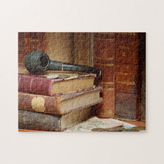 Pipe On Books Puzzle