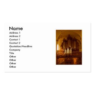 Pipe Organ business card