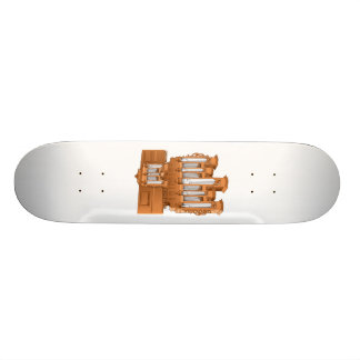 Pipe Organ, Church Organ Graphic Brown Custom Skate Board