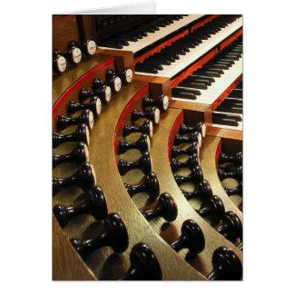 Pipe organ console, Wiesbaden Card