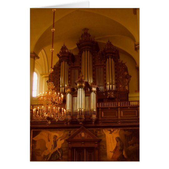 Pipe Organ greeting card