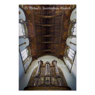 Pipe organ in Framlingham Church, UK Print