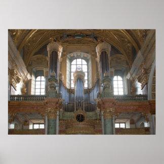 Pipe Organ Jesuitenkirche Poster