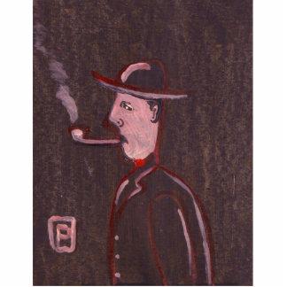 Pipe smoker Photo Sculpture
