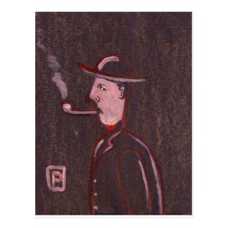 Pipe smoker postcard