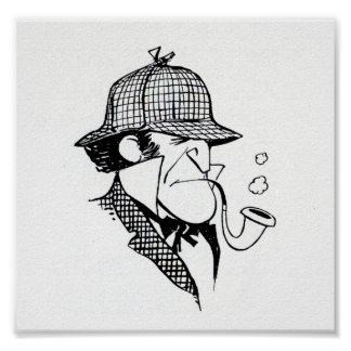 Pipe Smoking Detective Poster