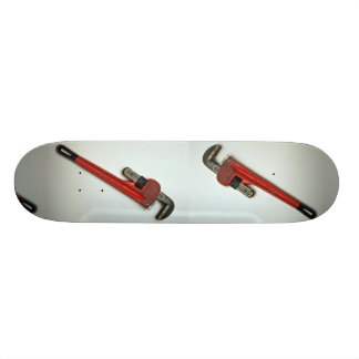 Pipe wrench tool for turning soft iron pipes skateboard decks