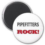 Pipefitters Rock Magnet