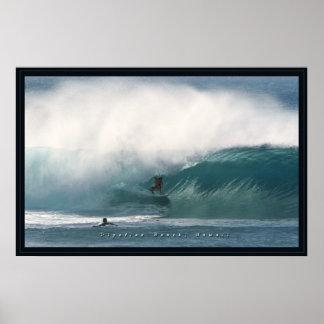 Pipeline Beach Surfer Poster
