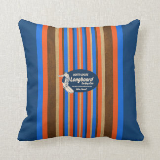 Pipeline Hawaii Surfboard Reversible Square Pillow