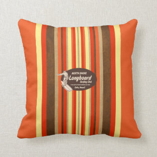 Pipeline Hawaii Surfboard Reversible Square Pillow Cushion
