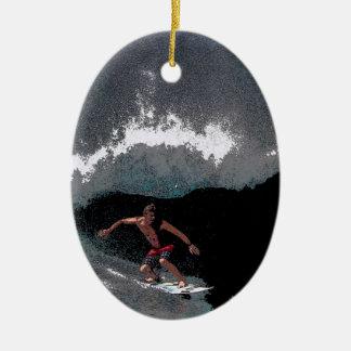 Pipeline Surfer Christmas Ornament