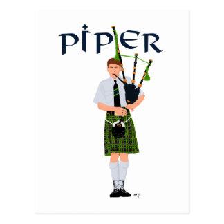 PIPER Green Plaid Postcards