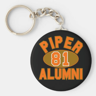 Piper High Class of 1981 Alumni Reunion Basic Round Button Key Ring