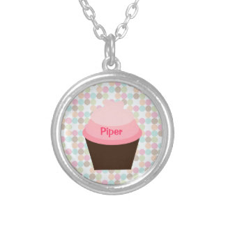 """Piper"" Pink Cupcake Necklace Pendant"
