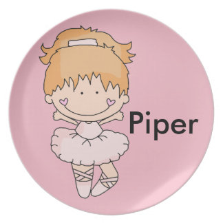 Piper's Personalized Ballet Plate