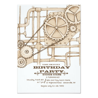 Pipes and Gears Invitation