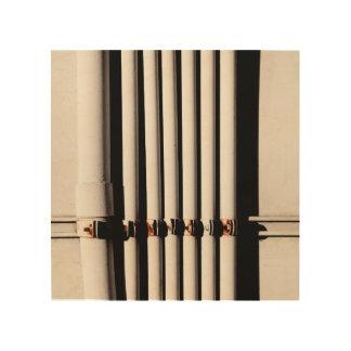 Pipes and Shadows Wood Print