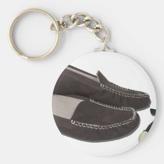 PipeSlippers102410 Basic Round Button Key Ring